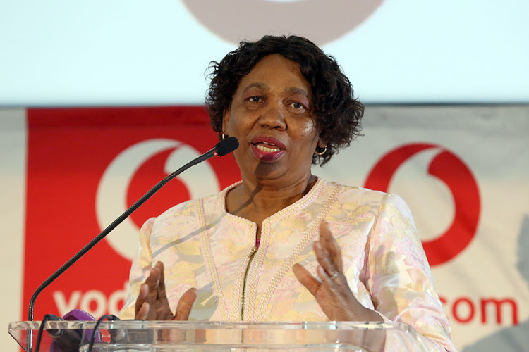 January 07 2020. Minister Angie Motshekga addressing the breakfast where she was hosting the best students of the 2019 class.