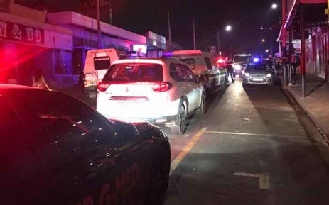 Emergency services on scene after a fatal drive-by shooting in Melville in the early hours of 1 January 2020.