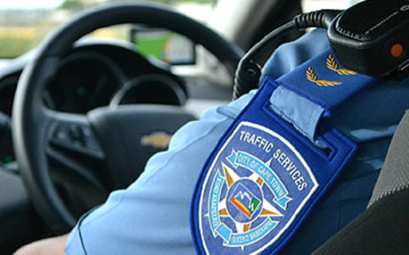 A Cape Town Traffic Services officer.