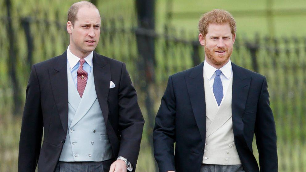 Britain's Prince William (L) Duke of Cambridge and Prince Harry (R) Duke of Sussex.