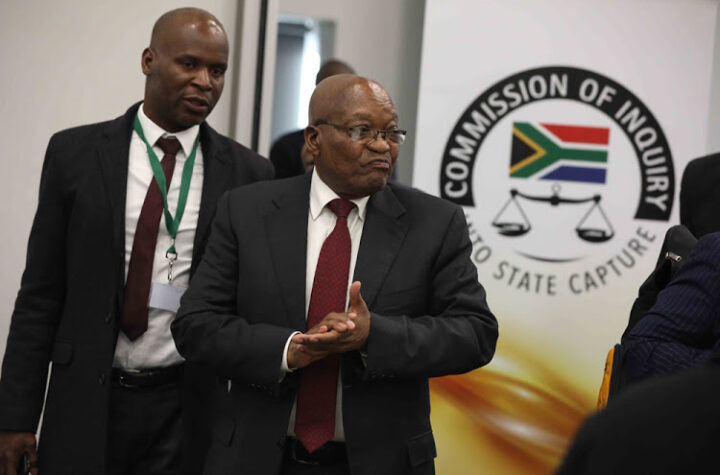 Former South African President Jacob Zuma at the State Capture Inquiry.